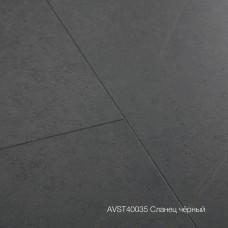 Плитка ПВХ Quick-Step Сланец чёрный (Black Slate) коллекция Alpha Vinyl Tiles AVST40035