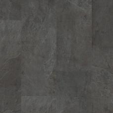 Плитка ПВХ Quick-Step Сланец чёрный коллекция Ambient Click AMCL40035