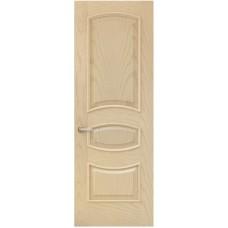 Межкомнатная дверь Sola Porte Алина Ясень латте текстурный полотно глухое Багетная серия