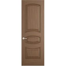 Межкомнатная дверь Sola Porte Алина Орех лак полотно глухое Багетная серия