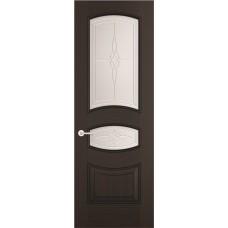 Межкомнатная дверь Sola Porte Алина Венге лак полотно с остеклением Багетная серия