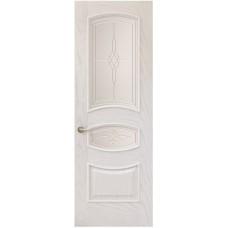 Межкомнатная дверь Sola Porte Алина Ясень белый текстурный полотно с остеклением Багетная серия