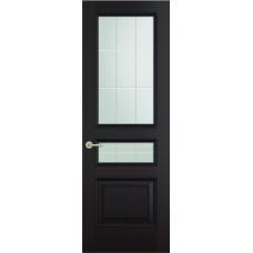 Межкомнатная дверь Sola Porte Кардинал 2 Венге  лак полотно с остеклением Багетная серия