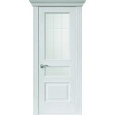 Межкомнатная дверь Sola Porte Кардинал 2 Ясень белый текстурный полотно с остеклением Багетная серия