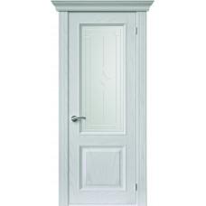Межкомнатная дверь Sola Porte Кардинал 4 Ясень белый текстурный полотно с остеклением Багетная серия