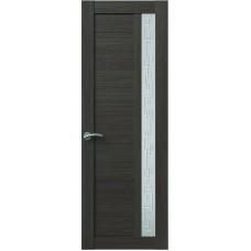 Межкомнатная дверь Sola Porte Корвет 1 Дуб серый Экошпон пленка полипропилен полотно с остеклением серия Корвет