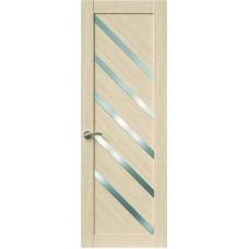 Межкомнатная дверь Sola Porte Корвет 10 Дуб белый Экошпон пленка полипропилен полотно глухое серия Корвет