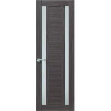 Межкомнатная дверь Sola Porte Корвет 2 Дуб серый Экошпон пленка полипропилен полотно с остеклением серия Корвет