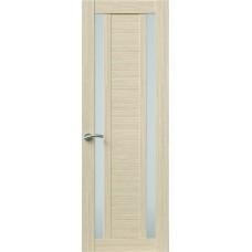 Межкомнатная дверь Sola Porte Корвет 2 Дуб белый Экошпон пленка полипропилен полотно с остеклением серия Корвет