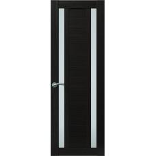 Межкомнатная дверь Sola Porte Корвет 2 Венге Экошпон пленка полипропилен полотно с остеклением серия Корвет