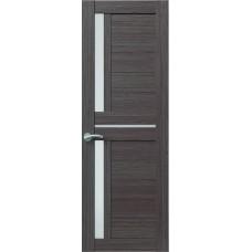 Межкомнатная дверь Sola Porte Корвет 3 Дуб серый Экошпон пленка полипропилен полотно с остеклением серия Корвет