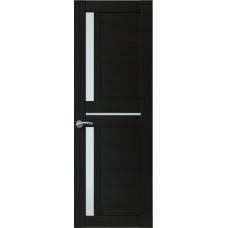 Межкомнатная дверь Sola Porte Корвет 3 Венге Экошпон пленка полипропилен полотно с остеклением серия Корвет