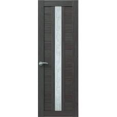 Межкомнатная дверь Sola Porte Корвет 4 Дуб серый Экошпон пленка полипропилен полотно с остеклением серия Корвет