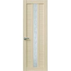 Межкомнатная дверь Sola Porte Корвет 4 Дуб белый Экошпон пленка полипропилен полотно с остеклением серия Корвет