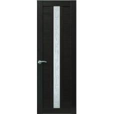 Межкомнатная дверь Sola Porte Корвет 4 Венге Экошпон пленка полипропилен полотно с остеклением серия Корвет
