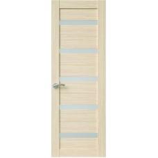 Межкомнатная дверь Sola Porte Корвет 5 Дуб белый Экошпон пленка полипропилен полотно с остеклением серия Корвет