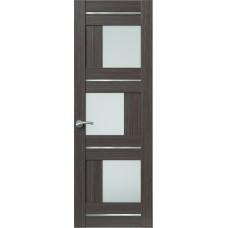 Межкомнатная дверь Sola Porte Корвет 8 (Домино) Дуб серый Экошпон пленка полипропилен полотно с остеклением серия Корвет