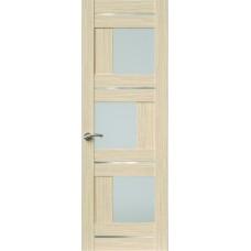Межкомнатная дверь Sola Porte Корвет 8 (Домино) Дуб белый Экошпон пленка полипропилен полотно с остеклением серия Корвет