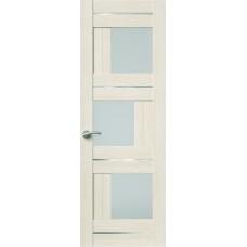 Межкомнатная дверь Sola Porte Корвет 8 (Домино) Лиственница Экошпон пленка полипропилен полотно с остеклением серия Корвет