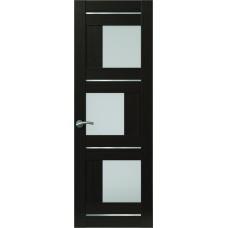 Межкомнатная дверь Sola Porte Корвет 8 (Домино) Венге Экошпон пленка полипропилен полотно с остеклением серия Корвет