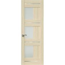 Межкомнатная дверь Sola Porte Корвет 9 Дуб белый Экошпон пленка полипропилен полотно с остеклением серия Корвет