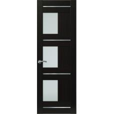Межкомнатная дверь Sola Porte Корвет 9 Венге Экошпон пленка полипропилен полотно с остеклением серия Корвет