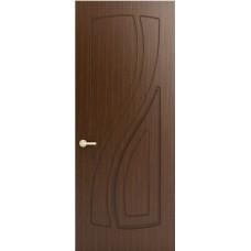 Межкомнатная дверь Sola Porte Лана Орех лак полотно глухое серия Фреза
