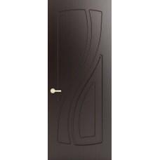 Межкомнатная дверь Sola Porte Лана Венге лак полотно глухое серия Фреза