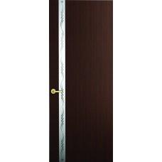 Межкомнатная дверь Sola Porte Лига Венге шпон Файн-лайн лак полотно с остеклением серия Сборные двери