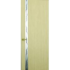 Межкомнатная дверь Sola Porte Лига Беленый дуб шпон Файн-лайн лак полотно с остеклением серия Сборные двери