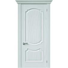 Межкомнатная дверь Sola Porte София Ясень белый текстурный полотно глухое Багетная серия