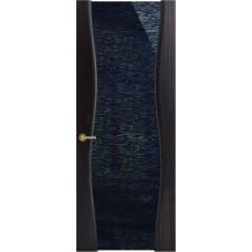 Межкомнатная дверь Sola Porte Звездная ночь Дуб мореный текстурный лак полотно с остеклением серия Сборные двери
