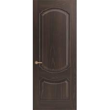 Межкомнатная дверь Sola Porte Версаль Дуб Мореный текстурный полотно глухое Багетная серия