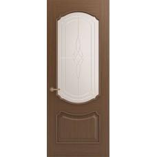 Межкомнатная дверь Sola Porte Версаль Орех лак полотно с остеклением Багетная серия