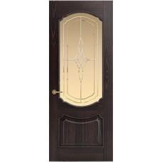 Межкомнатная дверь Sola Porte Версаль Венге лак полотно с остеклением Багетная серия