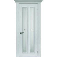 Межкомнатная дверь Sola Porte Вертикаль Ясень белый эмаль полотно с остеклением Багетная серия