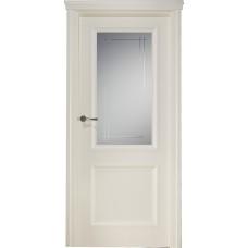 Межкомнатная дверь Свобода 173 Магнолия 9010 полотно с остеклением вид стекла ст.12 коллекция Eletti