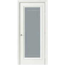 Межкомнатная дверь Свобода 176 Магнолия 9010 полотно с остеклением вид стекла ст.12 коллекция Eletti