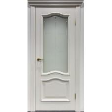 Межкомнатная дверь Свобода 300 Белый ясень 21.01 полотно с остеклением вид стекла ст.19 коллекция Eletti