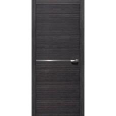 Межкомнатная дверь Свобода 207 Грейвуд 00.22 полотно с остеклением глухое 1 молдинг хром (2000х900) коллекция Loko