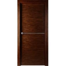 Межкомнатная дверь Свобода 207 Венге лайствуд 00.21 полотно глухое 1 молдинг хром коллекция Loko