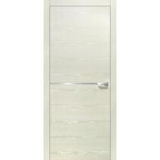 Межкомнатная дверь Свобода 207 Белый ясень 21.0.1 полотно глухое 1 молдинг хром (2000х900) коллекция Loko