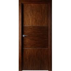 Межкомнатная дверь Свобода 209 Венге лайствуд 00.21 полотно глухое 2 молдинга хром коллекция Loko