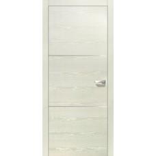 Межкомнатная дверь Свобода 209 Белый ясень 21.0.1 полотно глухое 2 молдинга хром (2000х900) коллекция Loko