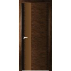 Межкомнатная дверь Свобода 203 Венге лайствуд 00.21 полотно с остеклением 2 стороны коллекция Loko