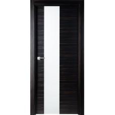 Межкомнатная дверь Свобода 204 Макассар 00.61 полотно с остеклением 2 матовых закаленных стекла коллекция Loko