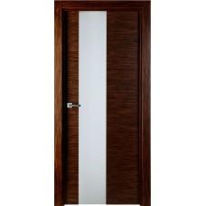Межкомнатная дверь Свобода 204 Венге лайствуд 00.21 полотно с остеклением 2 матовых закаленных стекла коллекция Loko