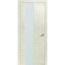 Межкомнатная дверь Свобода 204 Белый ясень 21.0.1 полотно с остеклением 2 матовых закаленных стекла коллекция Loko