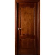 Межкомнатная дверь Свобода 737 Шпон красного дерева темный 04.04 полотно глухое коллекция Valdo