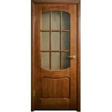 Межкомнатная дверь Свобода 750 Итальянский орех 12.01 полотно с осеклением решетка вид стекла ст.1 ПОР 2 (2000х900) коллекция Valdo